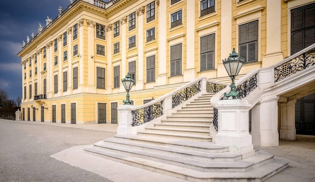 Schoenbrunn Treppenaufgang